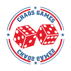 Chaos Games organizatorem Games Room na Pilkonie. Logo Chaos Games Piła.