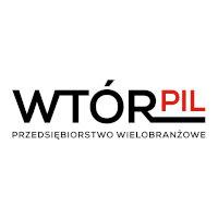 Przedsiębiorstwo Wielobranżowe Wtórpil partnerem Pilkonu. Logo Wtórpil.