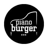 Piano Burger partnerem Strefy Gastronomicznej Pilkonu 2021. Logo Piano Burger.